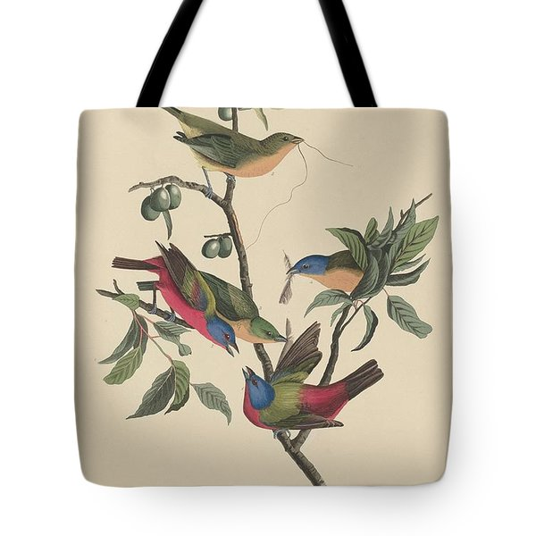 Painted Bunting Tote Bag by John James Audubon