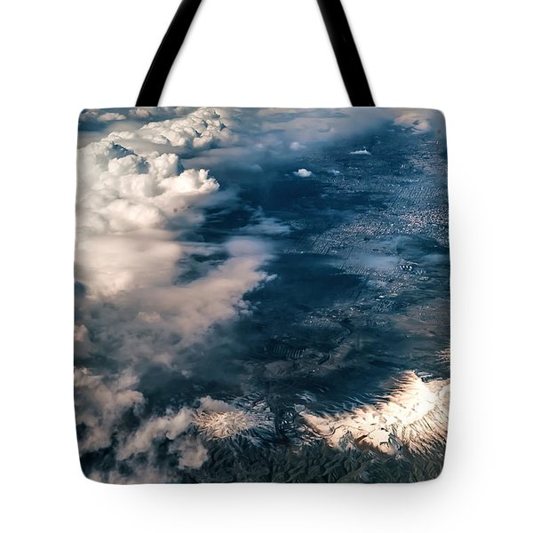 Painted Earth II Tote Bag by Jenny Rainbow