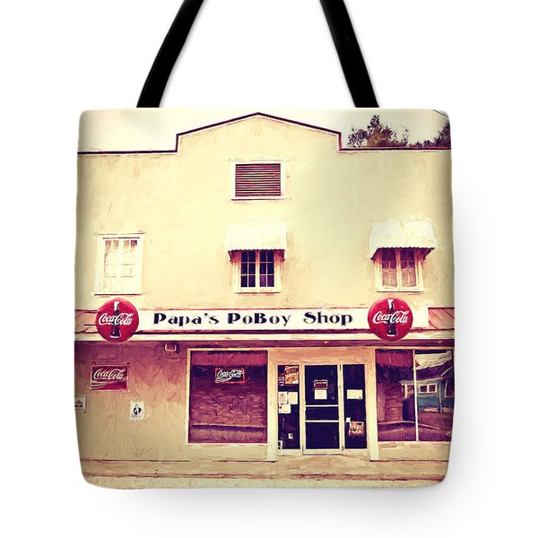 Papa's Poboy Shop Tote Bag by Scott Pellegrin