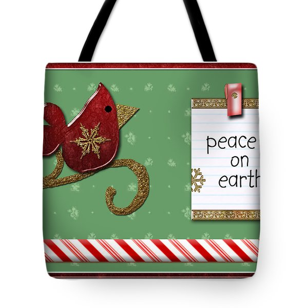 Peace On Earth Tote Bag by Arline Wagner