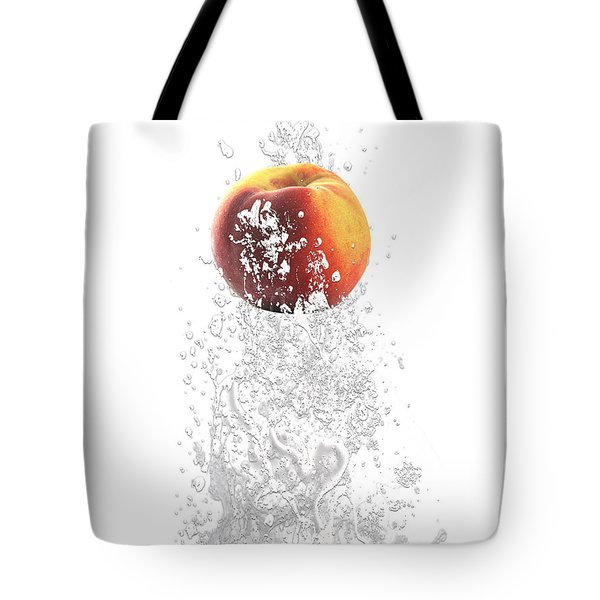 Peach Splash Tote Bag by Marvin Blaine