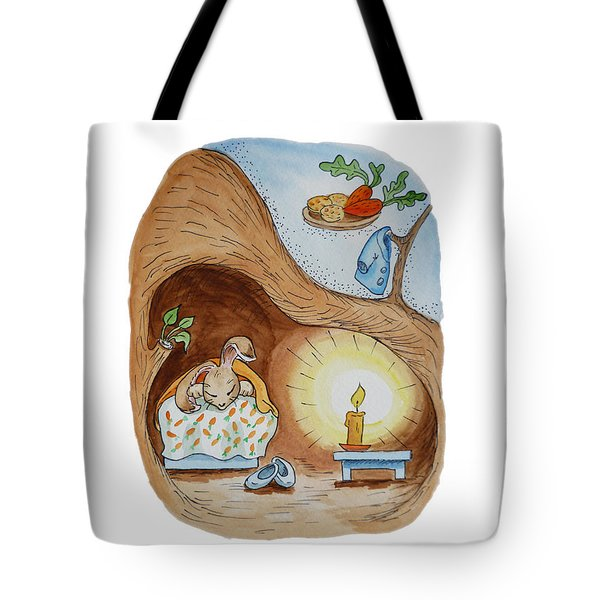 Peter Rabbit And His Dream Tote Bag by Irina Sztukowski