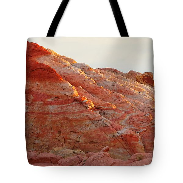Petrified Fire Tote Bag by Christine Till