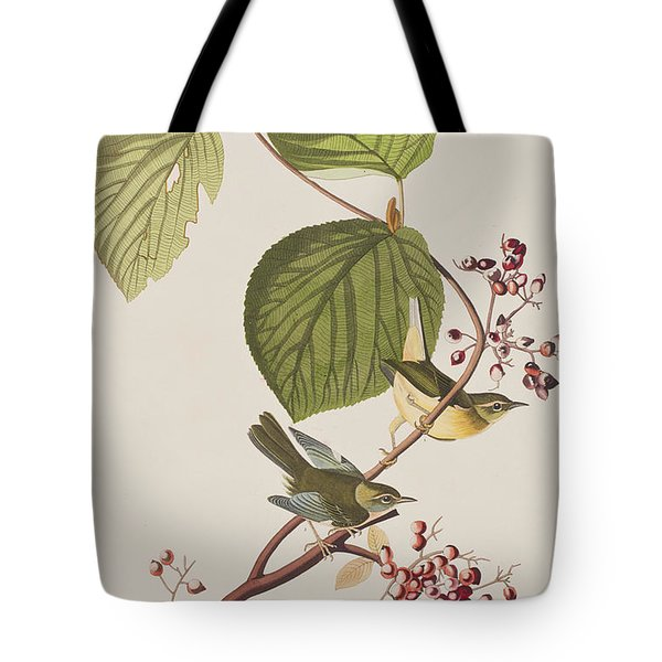 Pine Swamp Warbler Tote Bag by John James Audubon