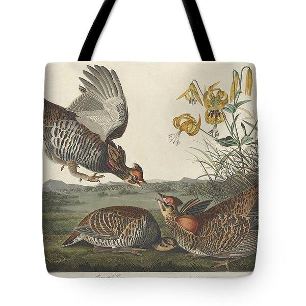 Pinnated Grouse Tote Bag by John James Audubon