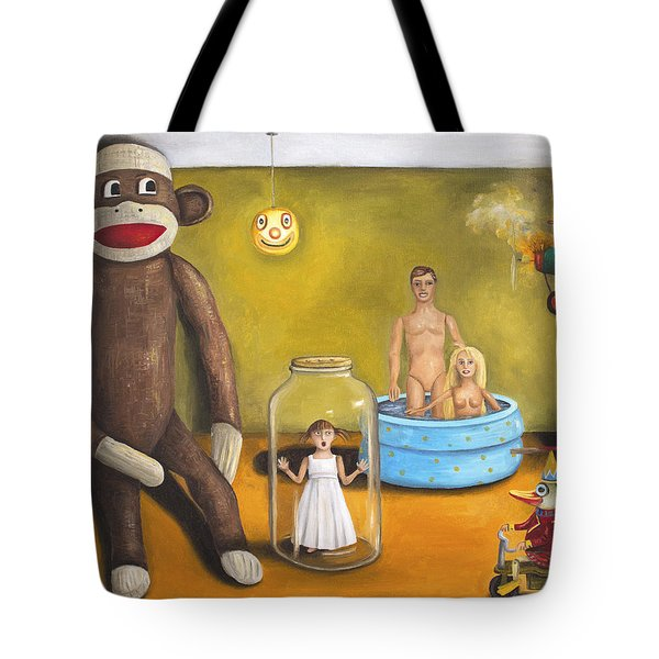 Playroom Nightmare 2 Tote Bag by Leah Saulnier The Painting Maniac