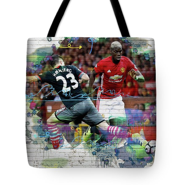 Pogba Street Art Tote Bag by Don Kuing
