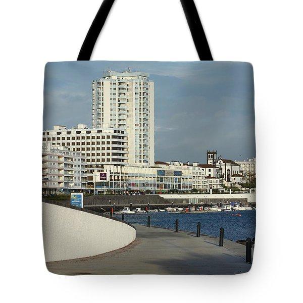 Ponta Delgada Waterfront Tote Bag by Gaspar Avila