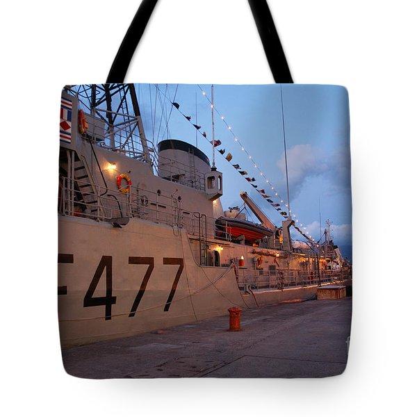 Portuguese Navy Frigates Tote Bag by Gaspar Avila