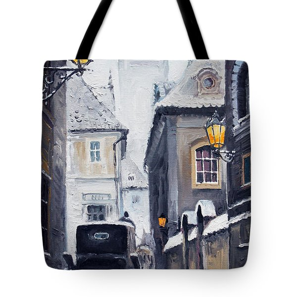 Prague Old Street 02 Tote Bag by Yuriy  Shevchuk