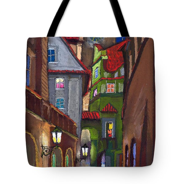 Prague Old Street  Tote Bag by Yuriy  Shevchuk