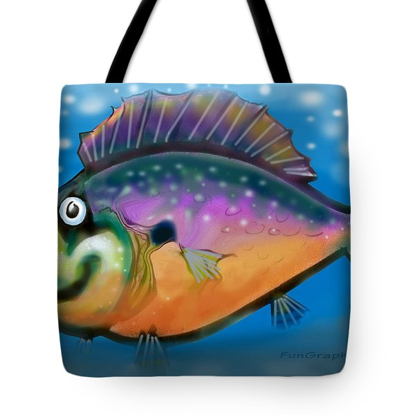 Rainbow Fish Tote Bag by Kevin Middleton