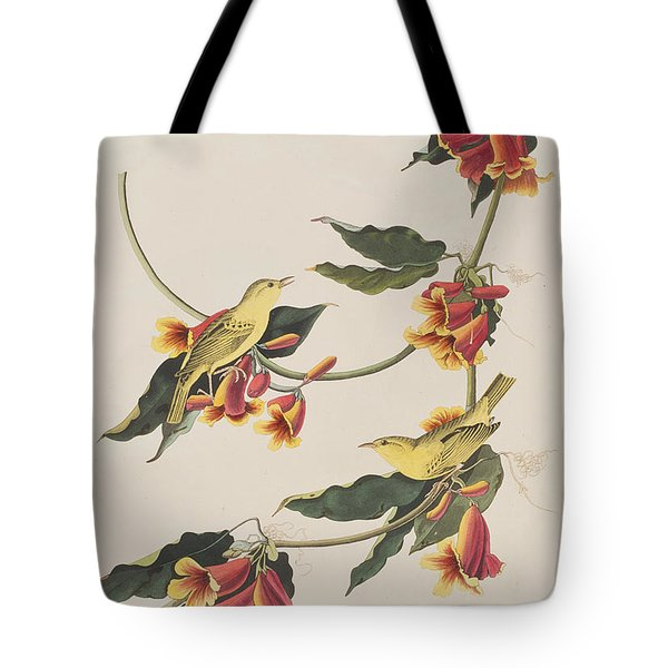 Rathbone Warbler Tote Bag by John James Audubon