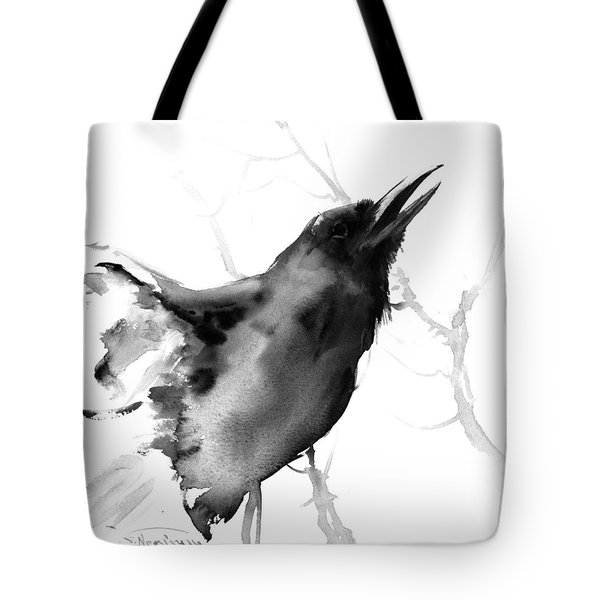 Raven Tote Bag by Suren Nersisyan