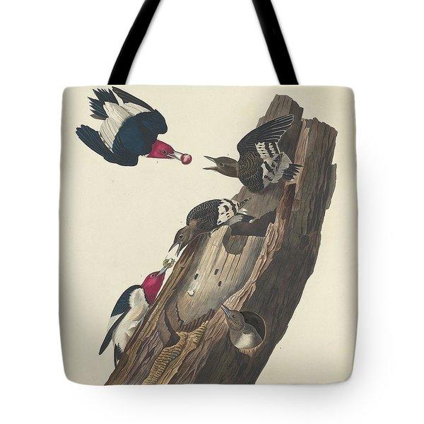 Red-headed Woodpecker Tote Bag by John James Audubon