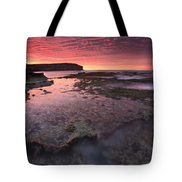 Red Sky At Morning Tote Bag by Mike  Dawson