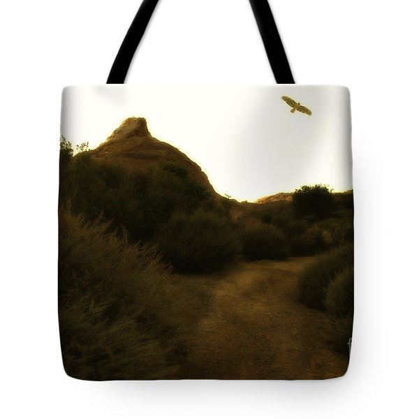 Red-tailed Hawk At Coyote Hills California . 7d11018 Tote Bag by Wingsdomain Art and Photography