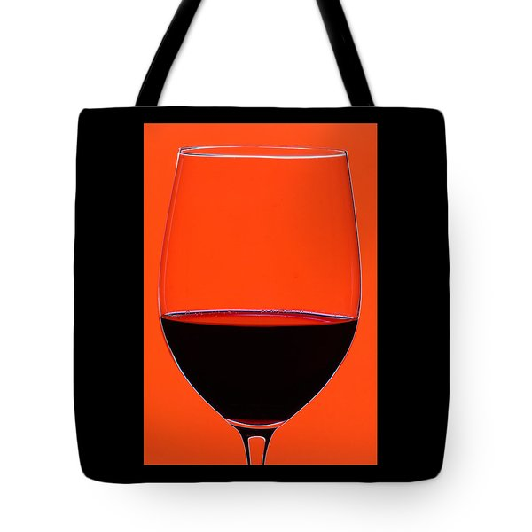 Red Wine Glass Tote Bag by Frank Tschakert