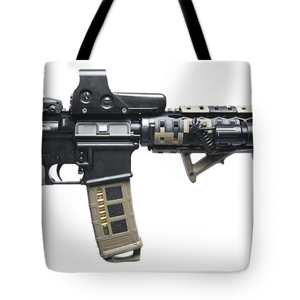 Rock River Arms Ar-15 Rifle Equipped Tote Bag by Terry Moore
