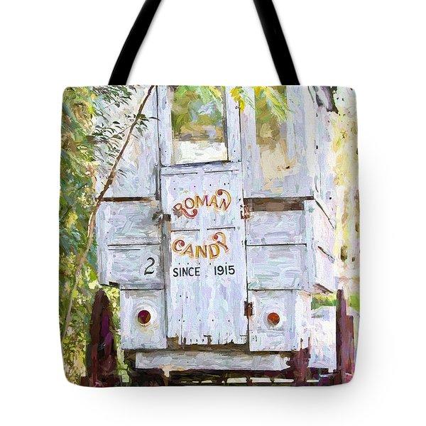 Roman Candy Tote Bag by Scott Pellegrin