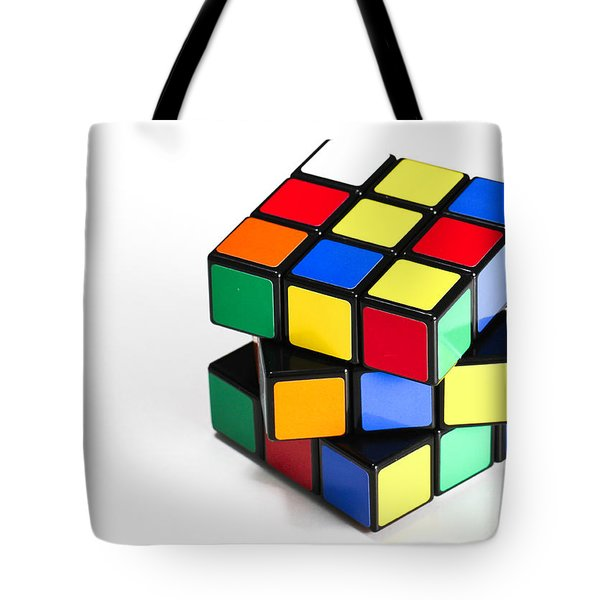 Rubiks Cube Tote Bag by Photo Researchers