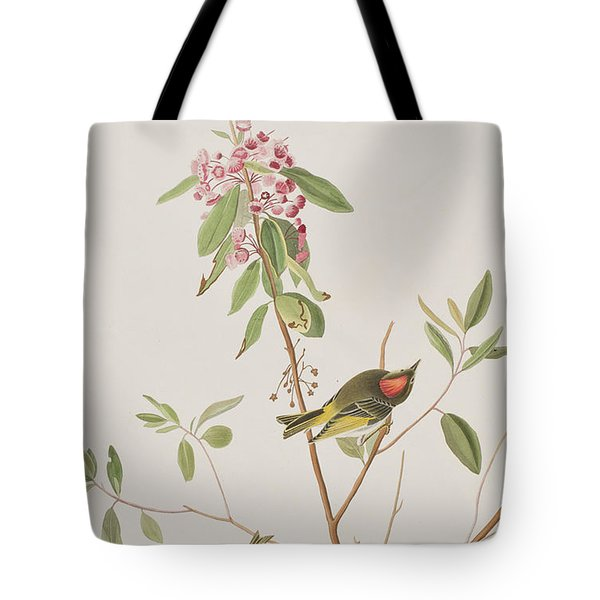 Ruby Crowned Wren Tote Bag by John James Audubon