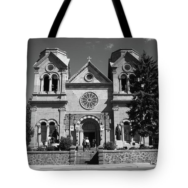 Santa Fe - Basilica Of St. Francis Of Assisi Tote Bag by Frank Romeo