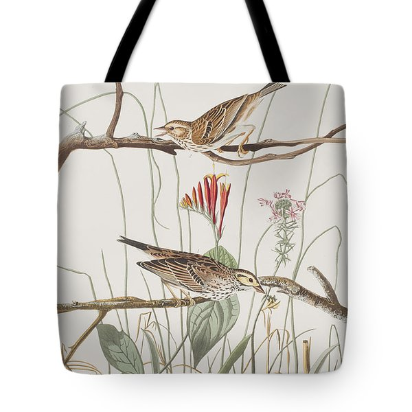 Savannah Finch Tote Bag by John James Audubon