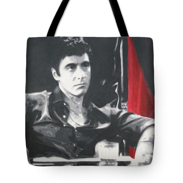 Scarface Tote Bag by Luis Ludzska