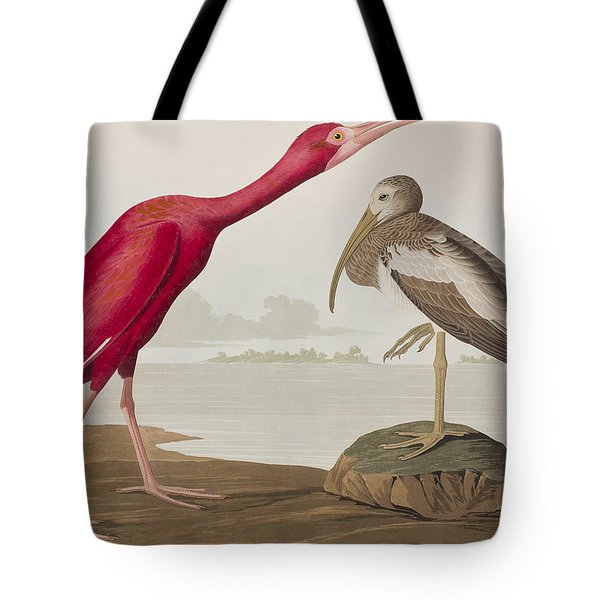 Scarlet Ibis Tote Bag by John James Audubon
