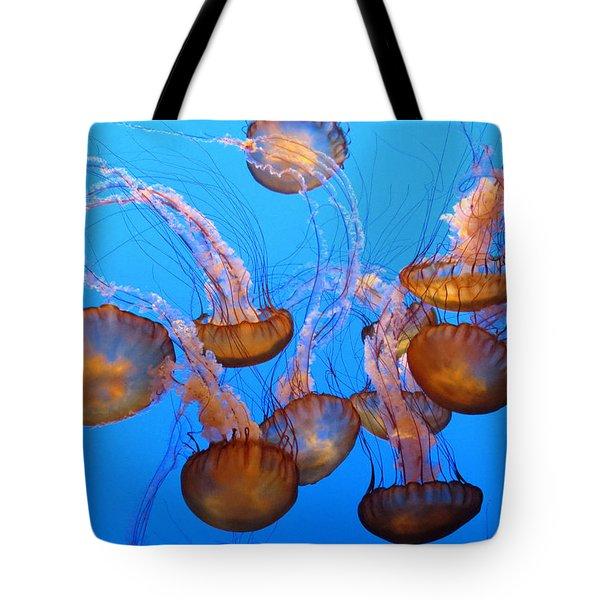 Sea Nettles Ballet 1 Tote Bag by Diane Wood