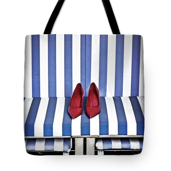 Shoes In A Beach Chair Tote Bag by Joana Kruse