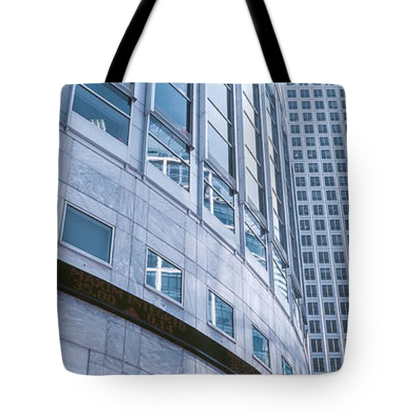 Skyscrapers In A City, Canary Wharf Tote Bag by Panoramic Images