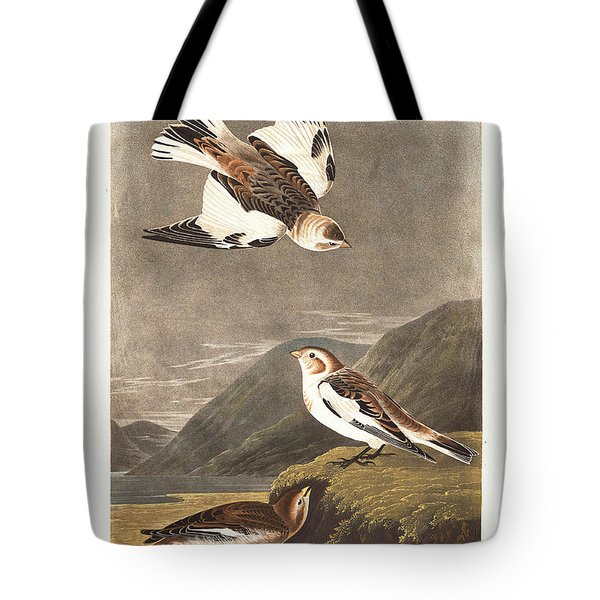 Snow Bunting Tote Bag by John James Audubon
