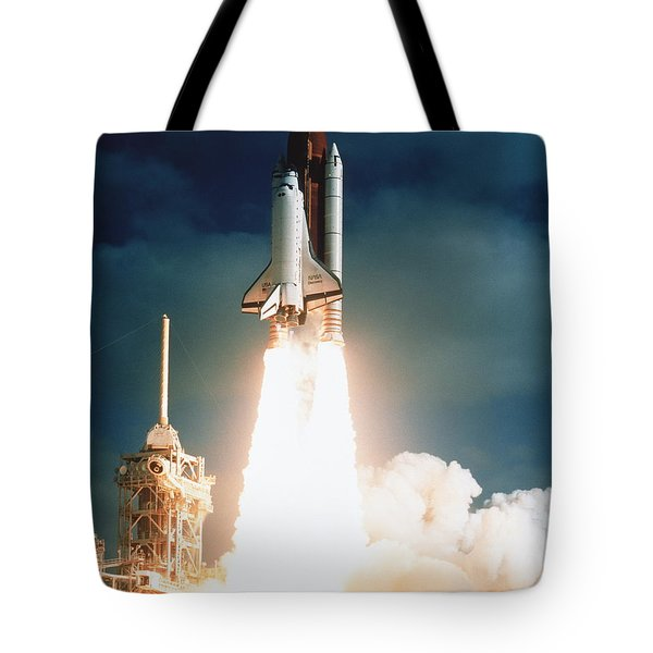 Space Shuttle Launch Tote Bag by NASA Science Source