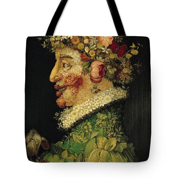 Spring Tote Bag by Giuseppe Arcimboldo