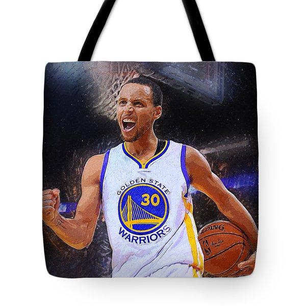 Stephen Curry Tote Bag by Semih Yurdabak