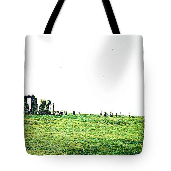 Stonehenge England Tote Bag by Merton Allen