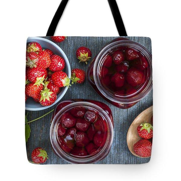 Strawberry Preserve Tote Bag by Elena Elisseeva
