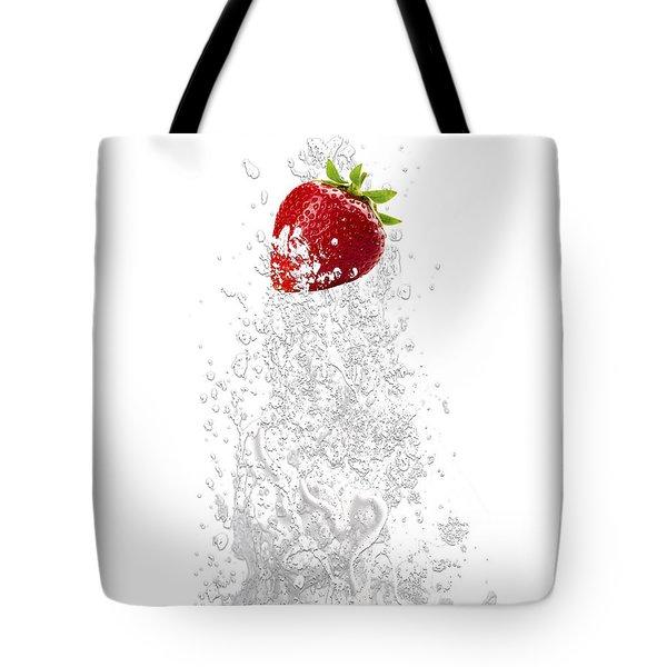 Strawberry Splash Tote Bag by Marvin Blaine