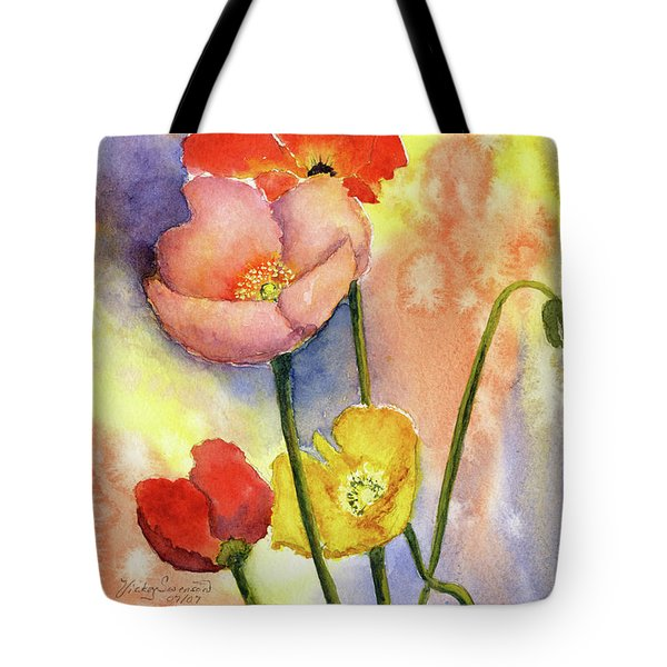 Summer Poppies Tote Bag by Vickey Swenson