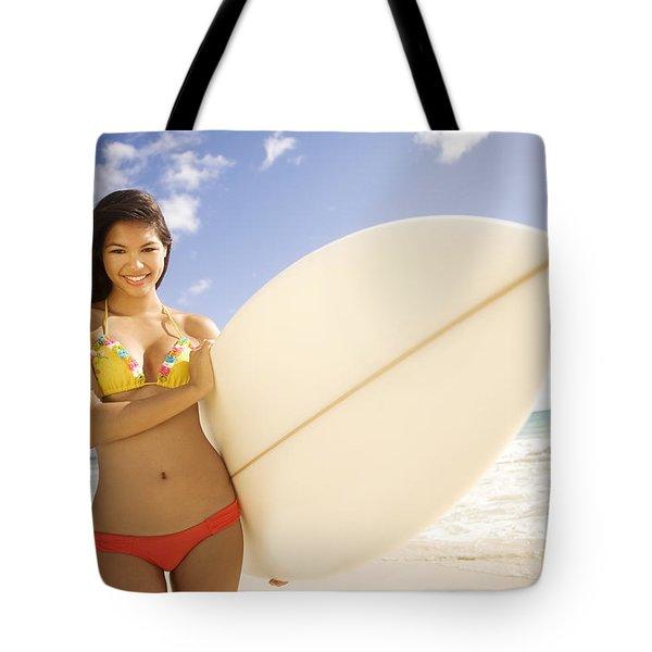 Surfer girl Tote Bag by Sri Maiava Rusden - Printscapes