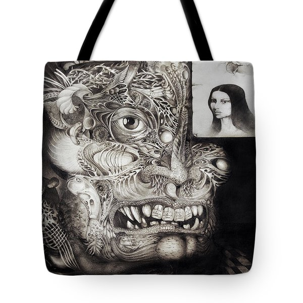 The Beast Of Babylon Tote Bag by Otto Rapp