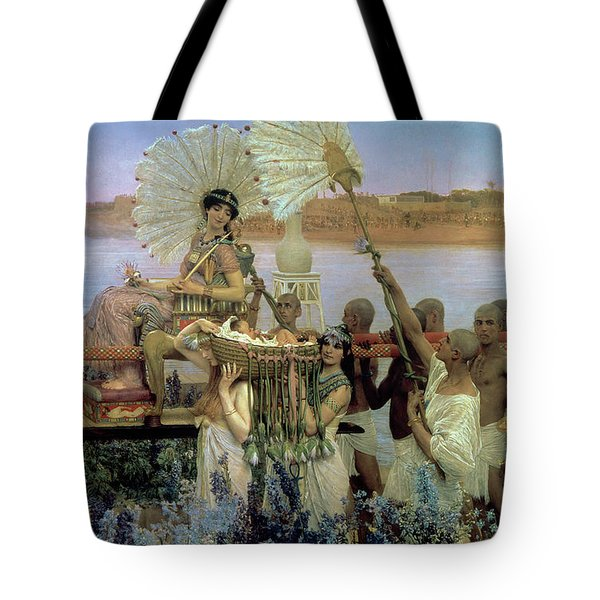The Finding Of Moses Tote Bag by Sir Lawrence Alma Tadema