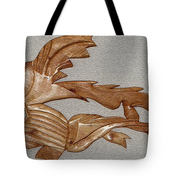 THE FISH SKELETON Tote Bag by Robert Margetts