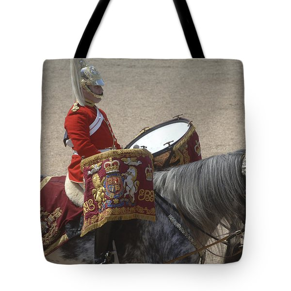 The Kettledrums Of Household Cavalry Tote Bag by Andrew Chittock