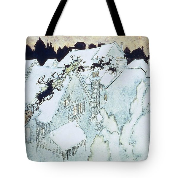 The Night Before Christmas Tote Bag by Arthur Rackham
