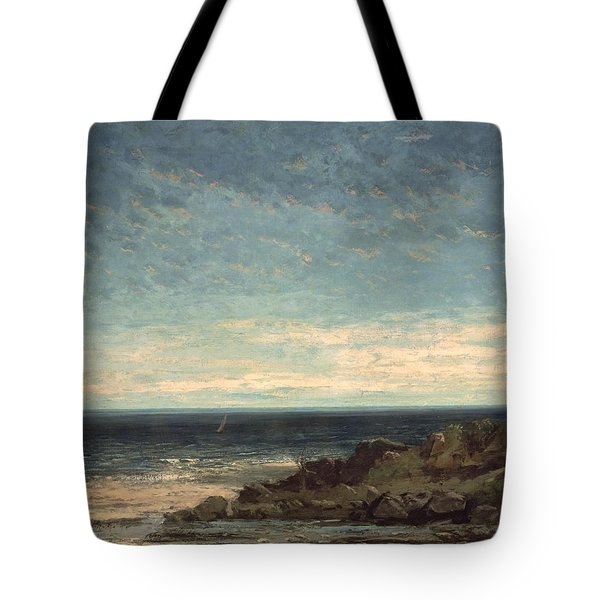 The Sea Tote Bag by Gustave Courbet