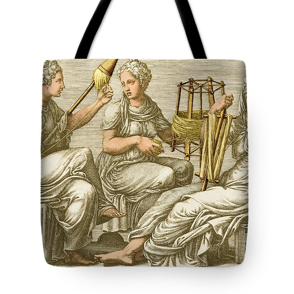 The Three Fates Tote Bag by Photo Researchers