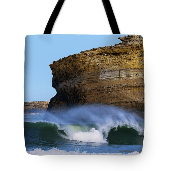 Tote Bag featuring the photograph The Wave by Thierry Bouriat